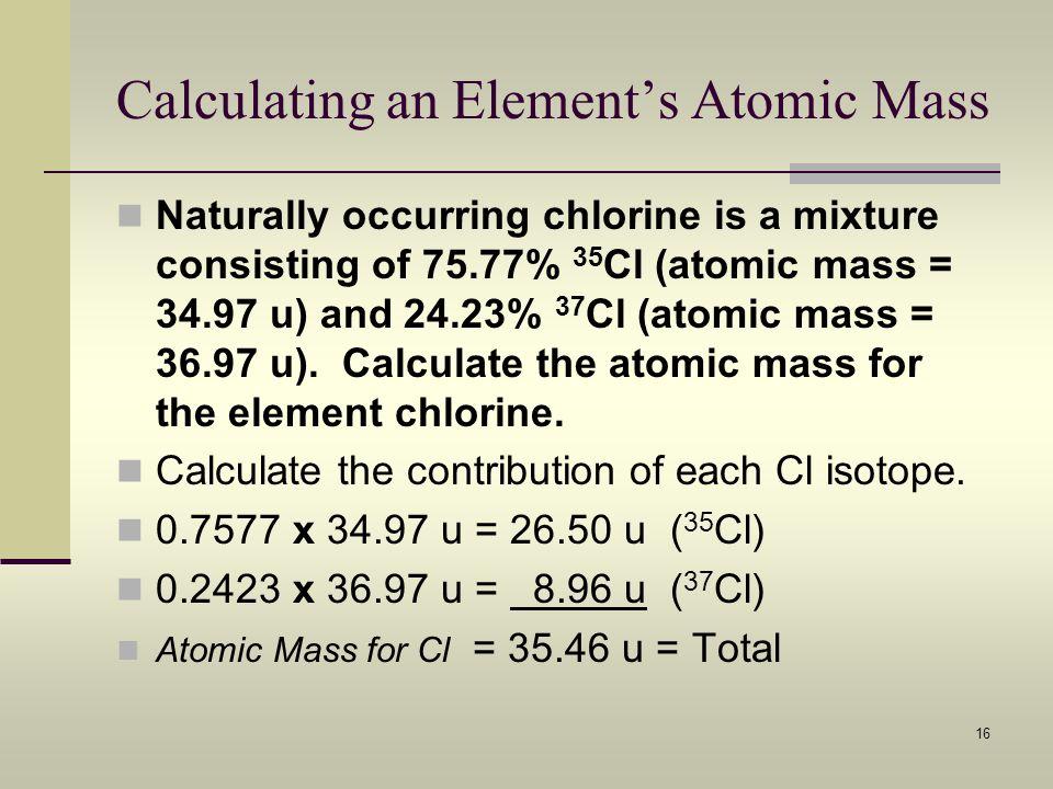 Calculating an Element's Atomic Mass
