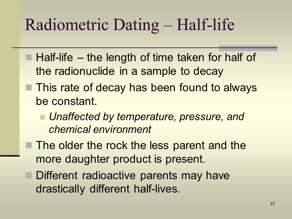 the problem with radiometric dating You can explore educational web-resources that explain the principles of radiometric dating in the homepage for age of what is the problem rate acknowledges.