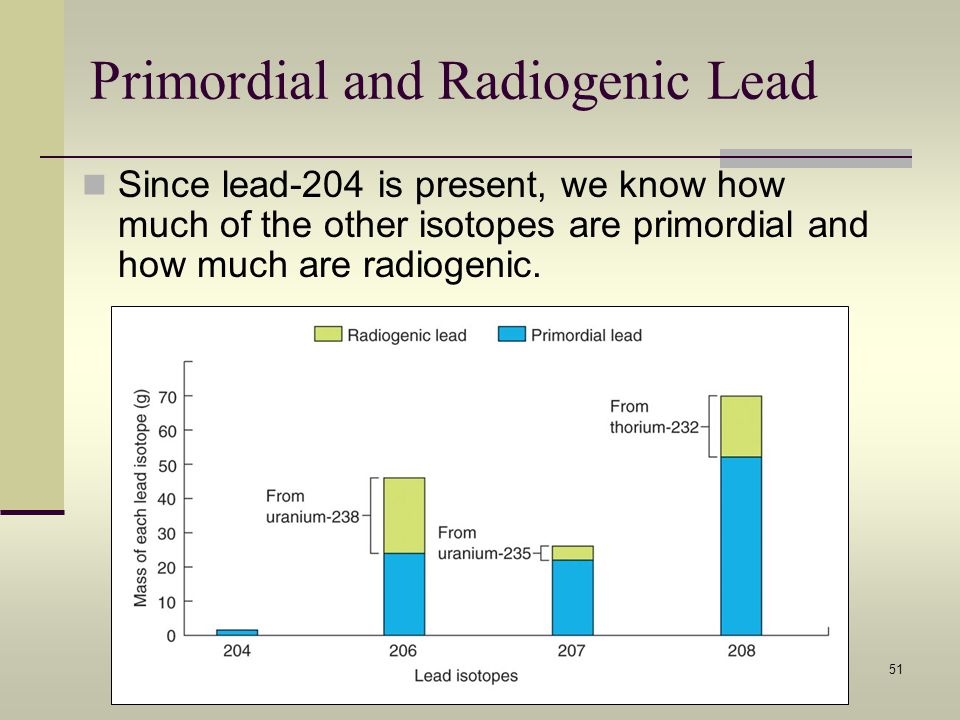 Primordial and Radiogenic Lead