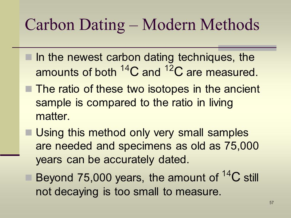 5 limitations of carbon dating