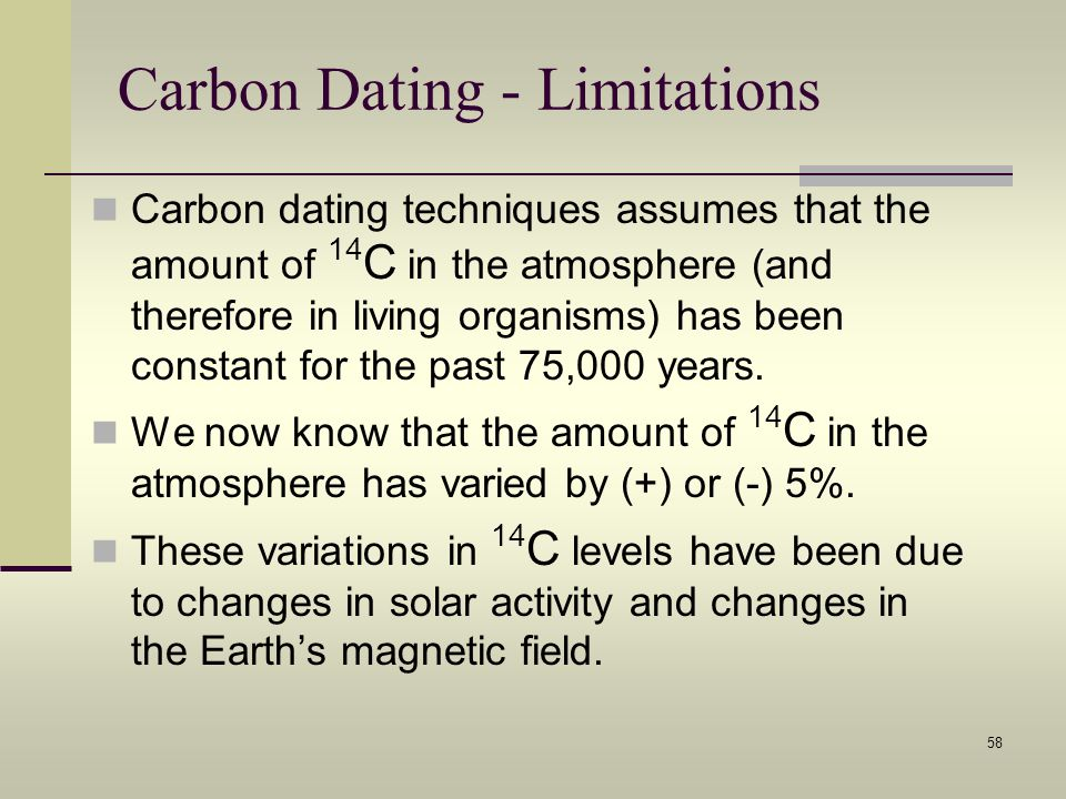Carbon Dating - Limitations