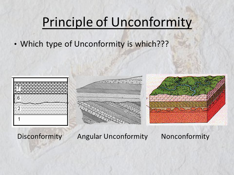 Principle of Unconformity