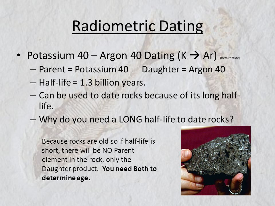 Potassium-Argon Dating Methods