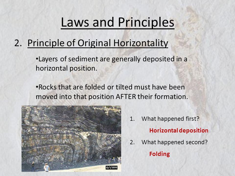 Laws and Principles Principle of Original Horizontality