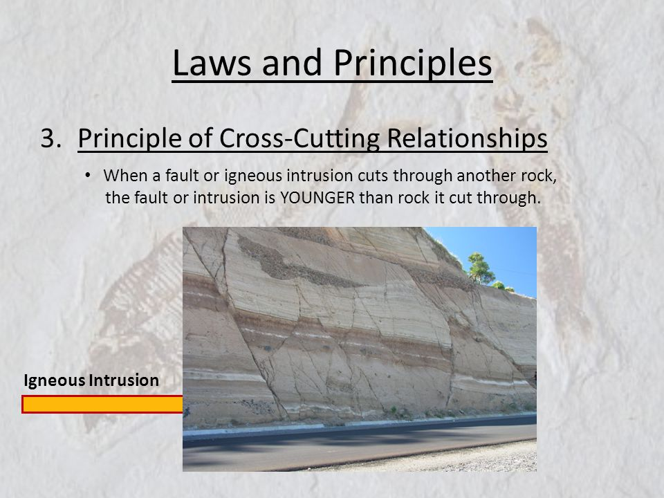 Laws and Principles Principle of Cross-Cutting Relationships