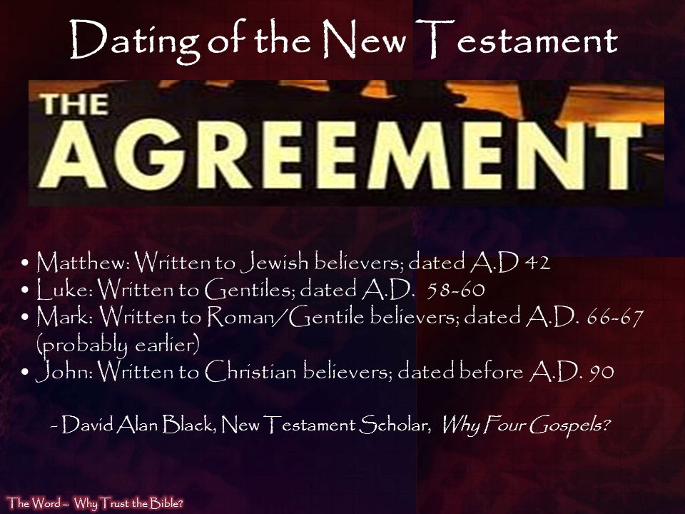 Dating of the New Testament
