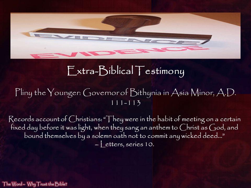 Extra-Biblical Testimony