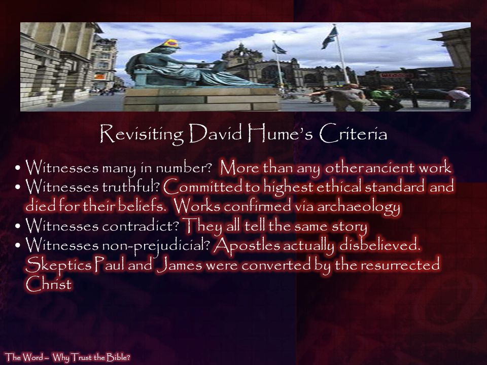 Revisiting David Hume's Criteria