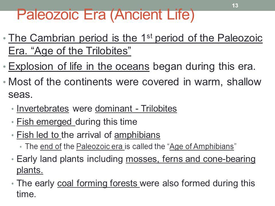 Paleozoic Era (Ancient Life)