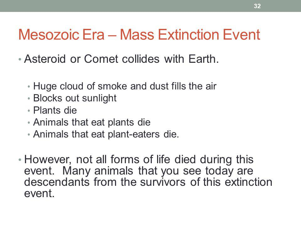 Mesozoic Era – Mass Extinction Event