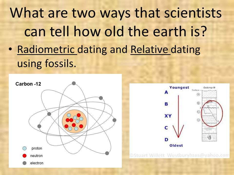 What are two ways that scientists can tell how old the earth is