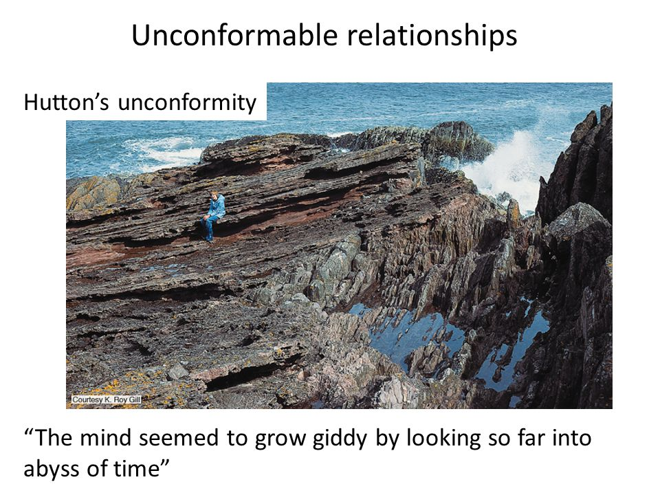 Unconformable relationships