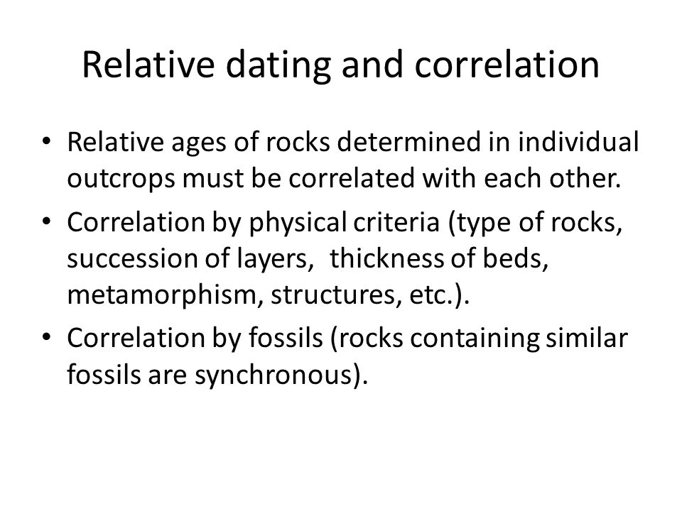 Relative dating and correlation