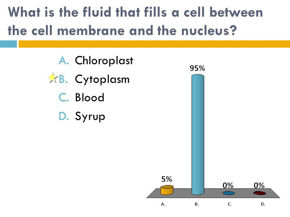 What is the fluid that fills a cell between the cell membrane and the nucleus