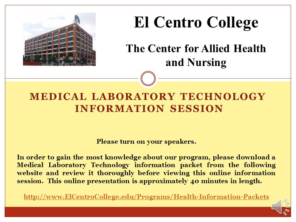 MEDICAL LABORATORY TECHNOLOGY INFORMATION session
