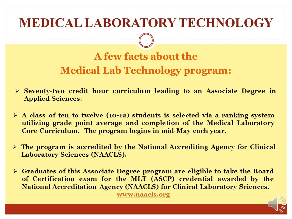 MEDICAL LABORATORY TECHNOLOGY