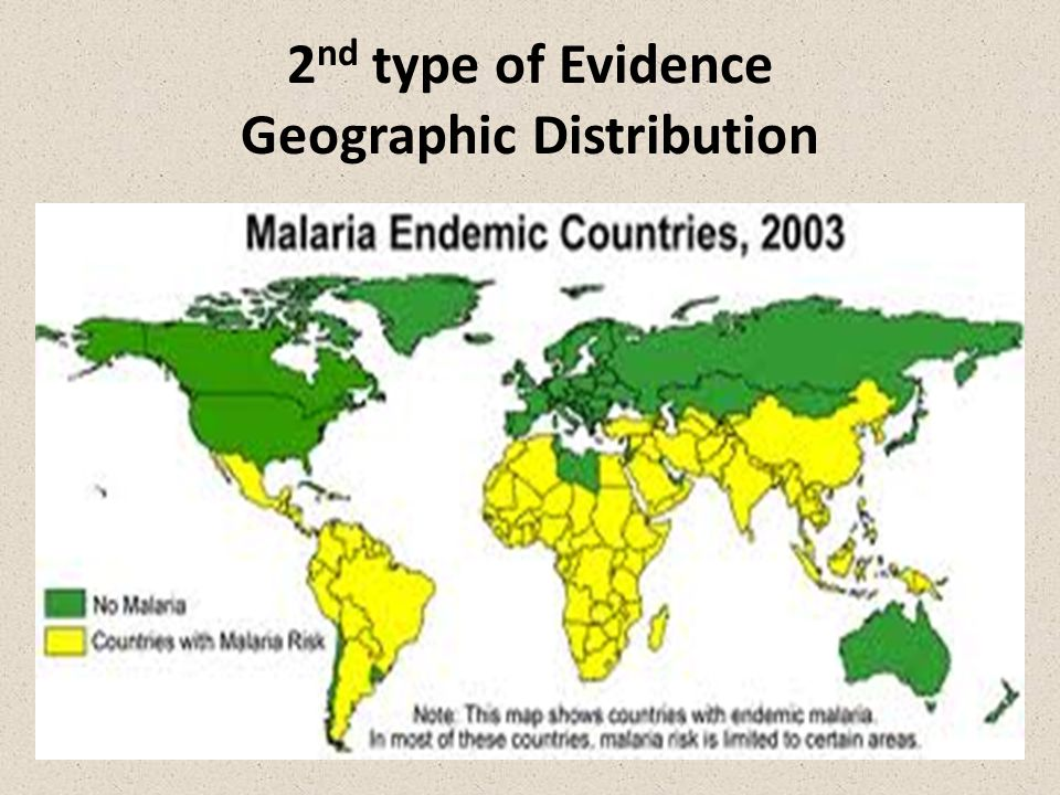 2nd type of Evidence Geographic Distribution