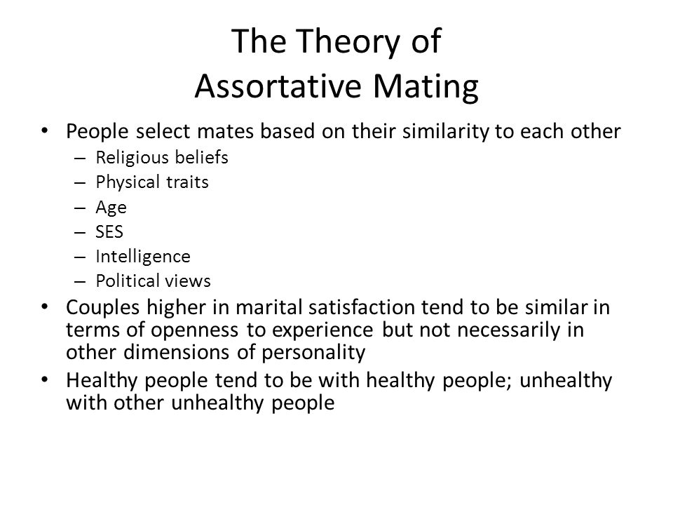 The Theory of Assortative Mating