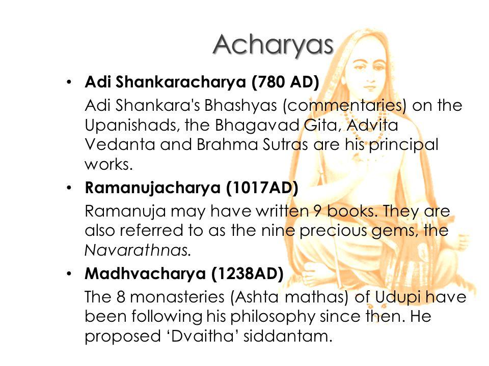 Acharyas Adi Shankaracharya (780 AD)