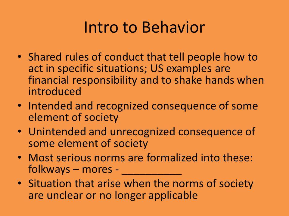 Intro to Behavior