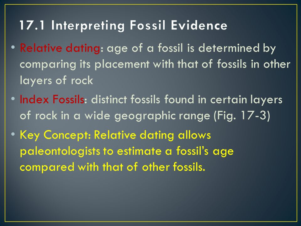 17.1 Interpreting Fossil Evidence