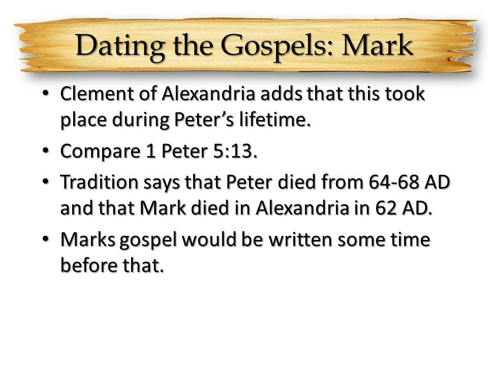 Dating the Gospels: Mark