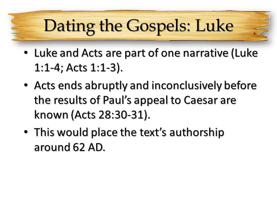 Dating the Gospels: Luke