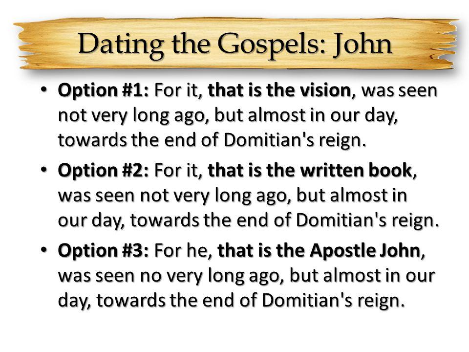 Dating the Gospels: John