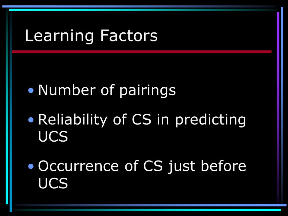 Learning Factors Number of pairings
