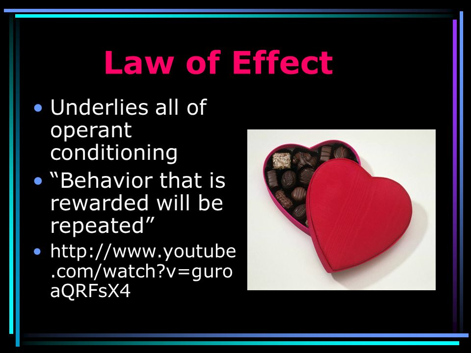 Law of Effect Underlies all of operant conditioning