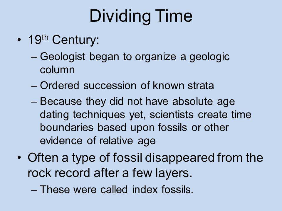 Dividing Time 19th Century: