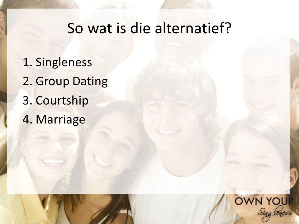 So wat is die alternatief
