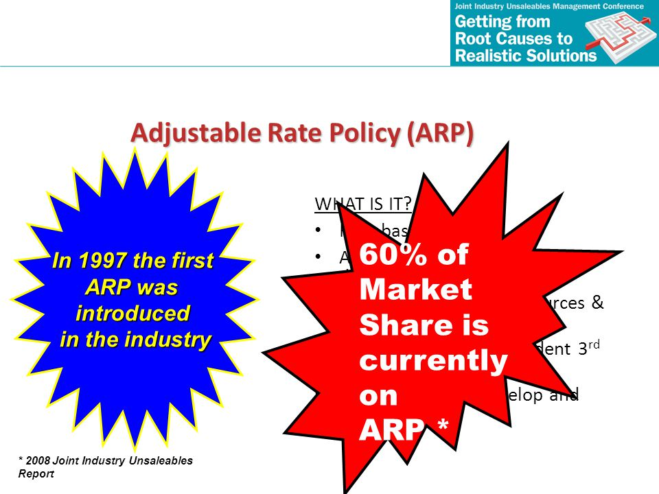 Adjustable Rate Policy (ARP)