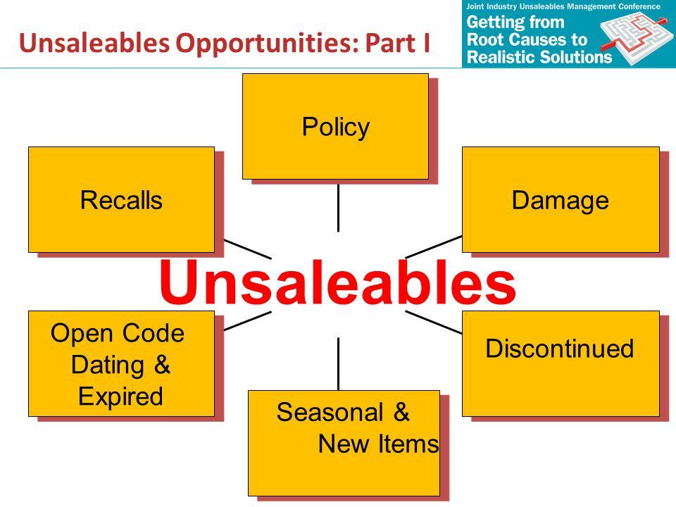 Unsaleables Opportunities: Part I