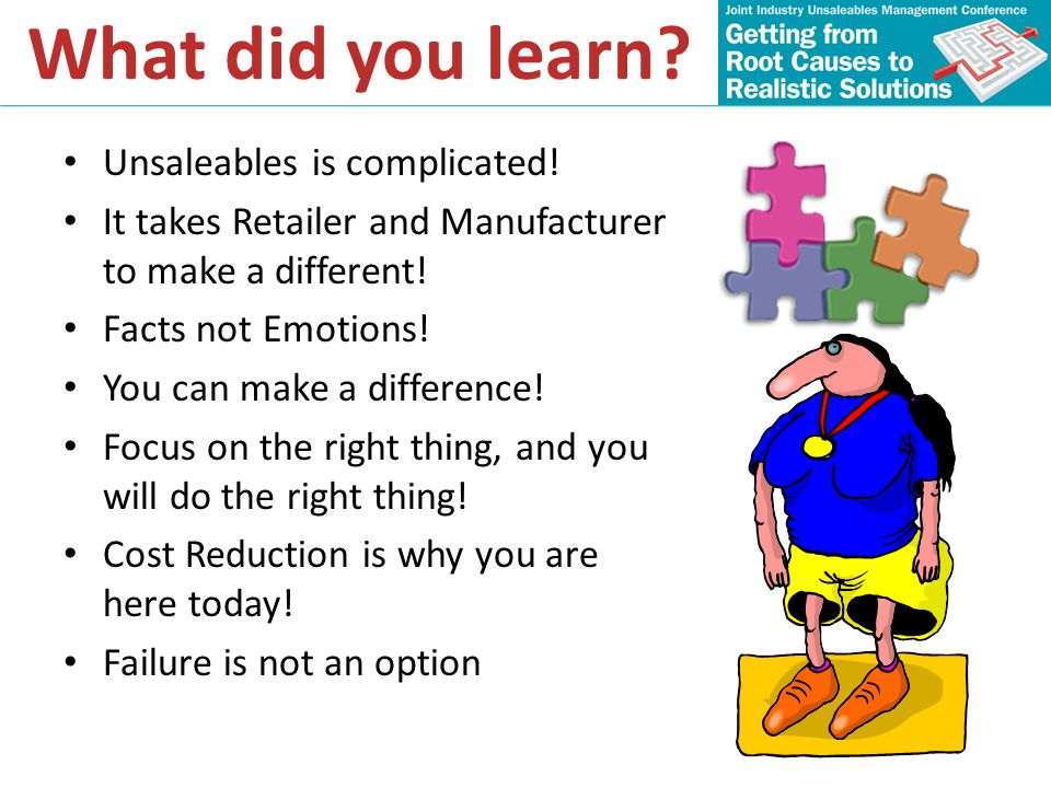 What did you learn Unsaleables is complicated!