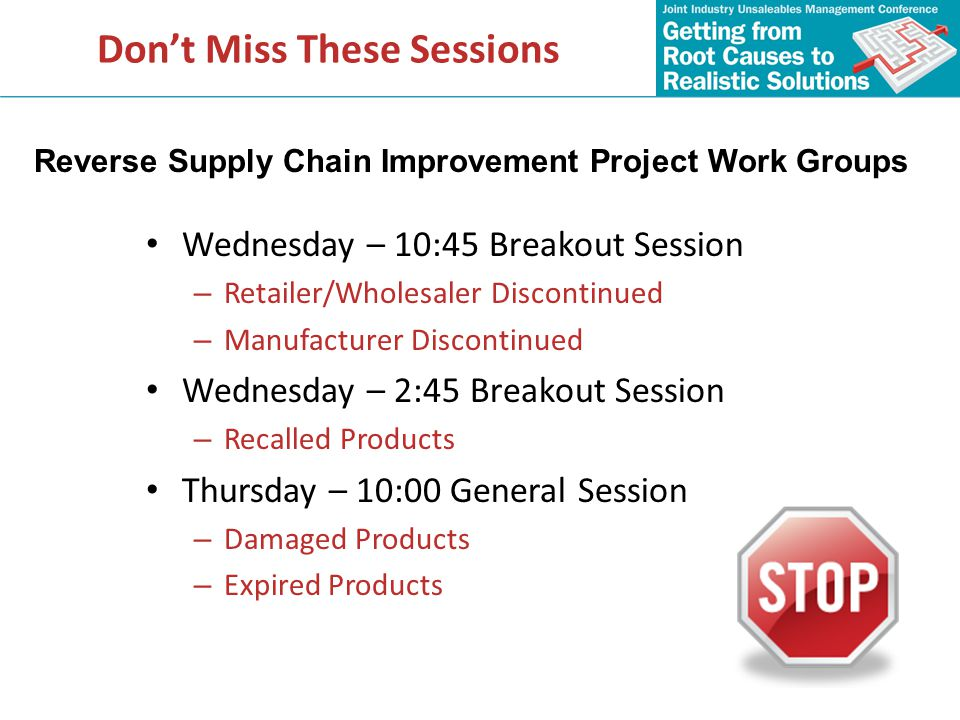 Don't Miss These Sessions