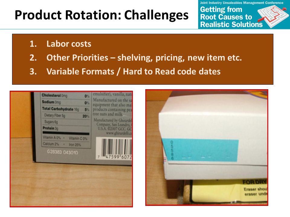 Product Rotation: Challenges