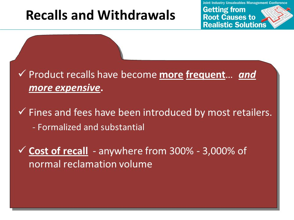 Recalls and Withdrawals