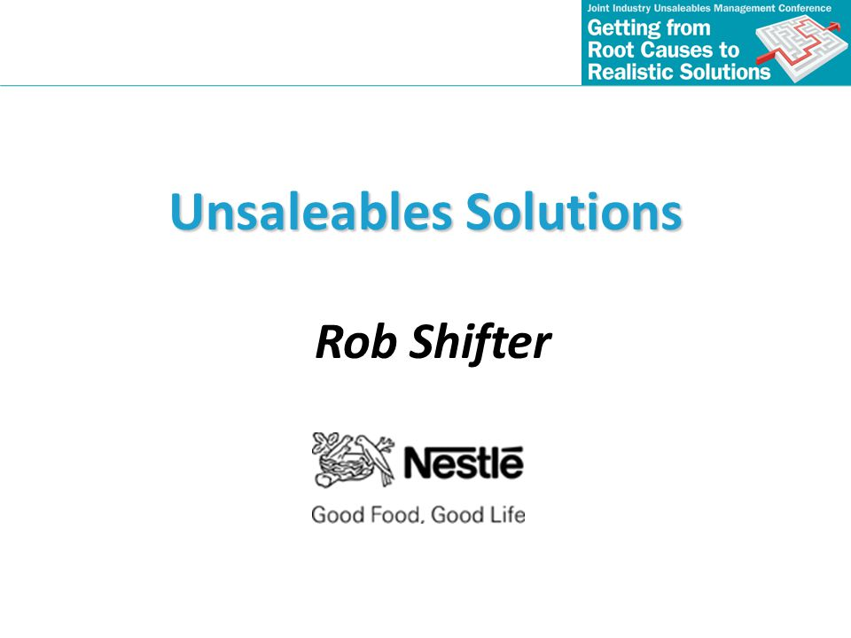 Unsaleables Solutions
