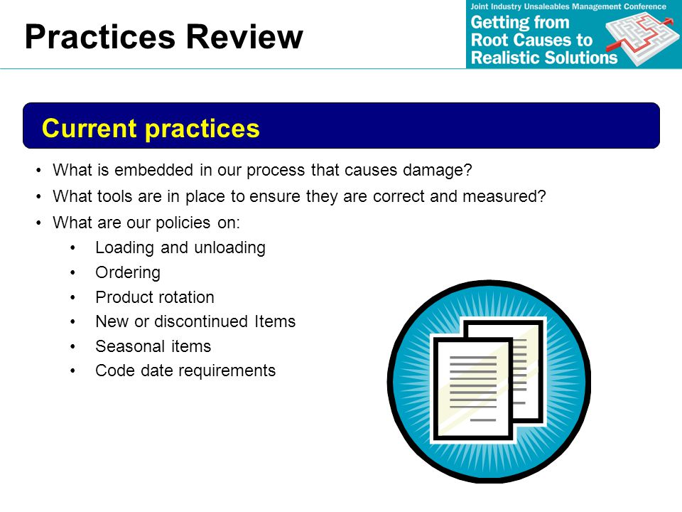 Practices Review Current practices