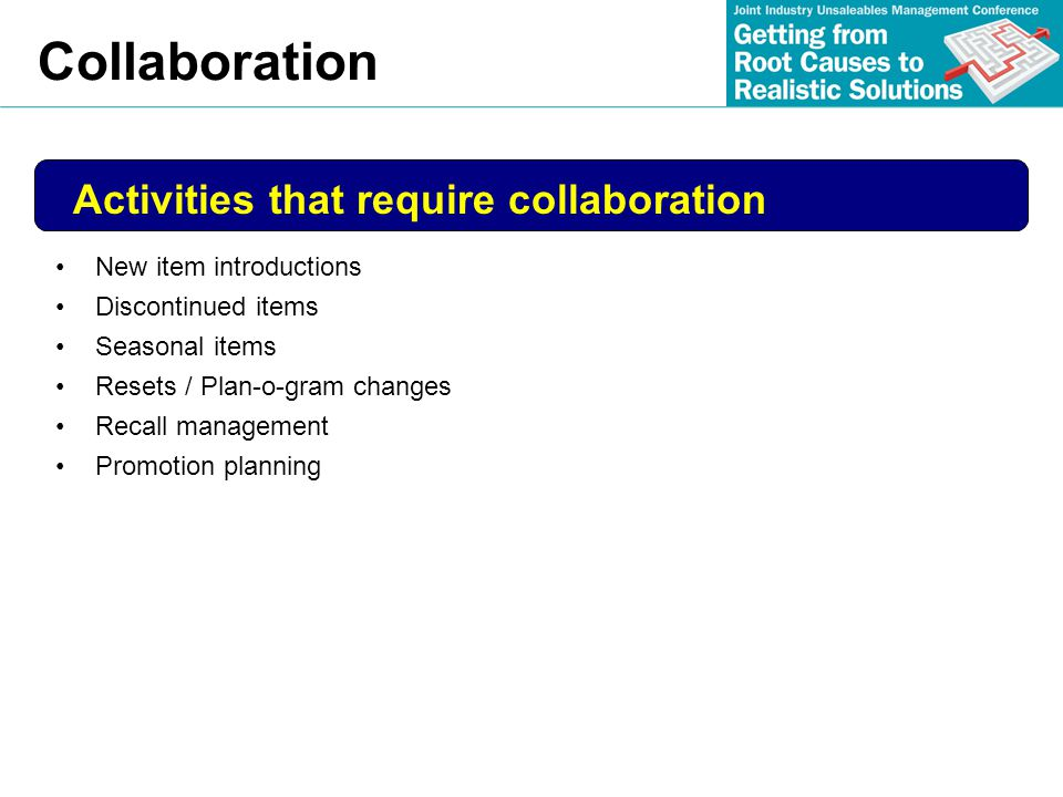 Collaboration Activities that require collaboration