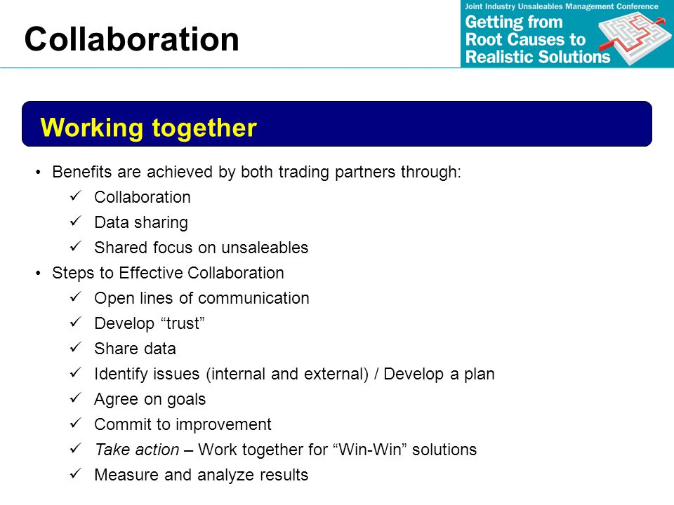 Collaboration Working together