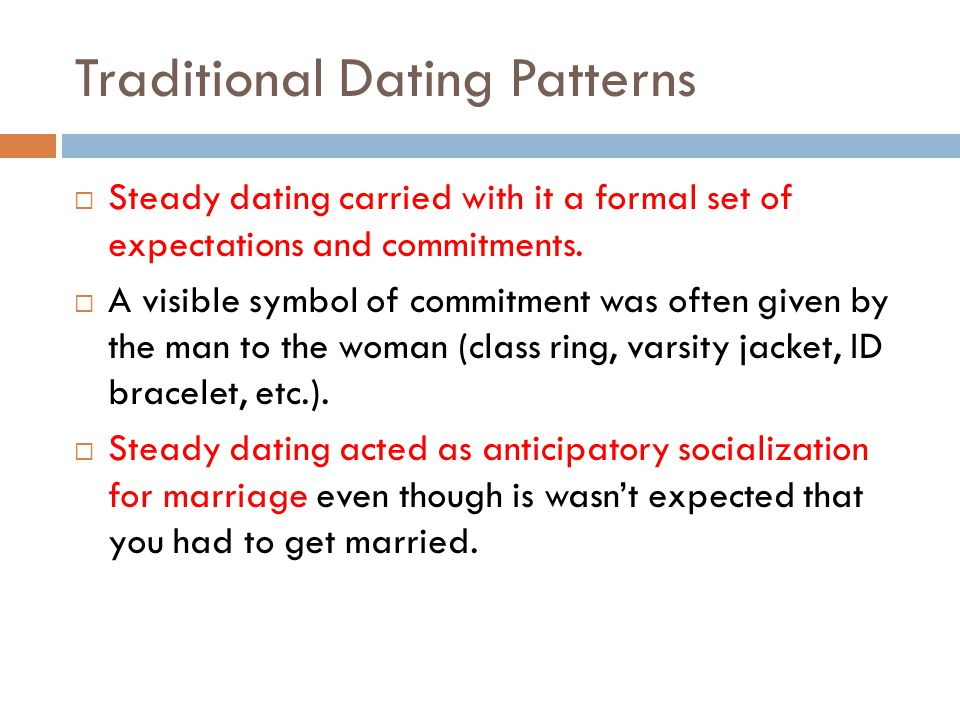 Traditional Dating Patterns