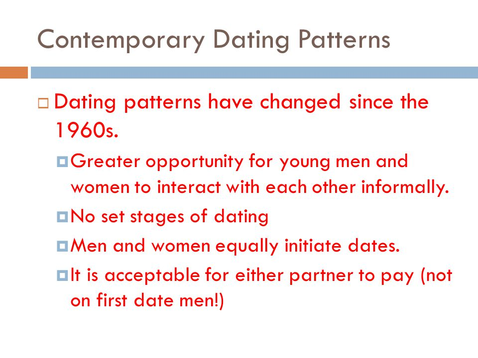 Contemporary Dating Patterns