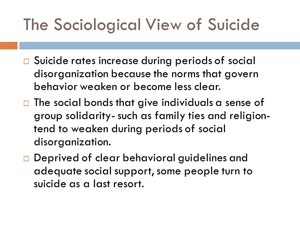 The Sociological View of Suicide