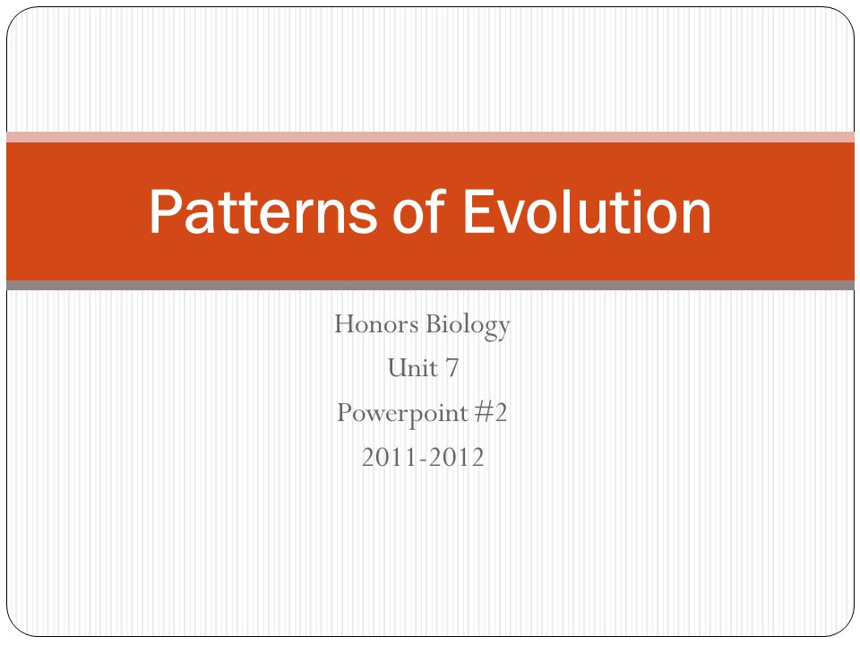 Honors Biology Unit 7 Powerpoint #2 2011-2012