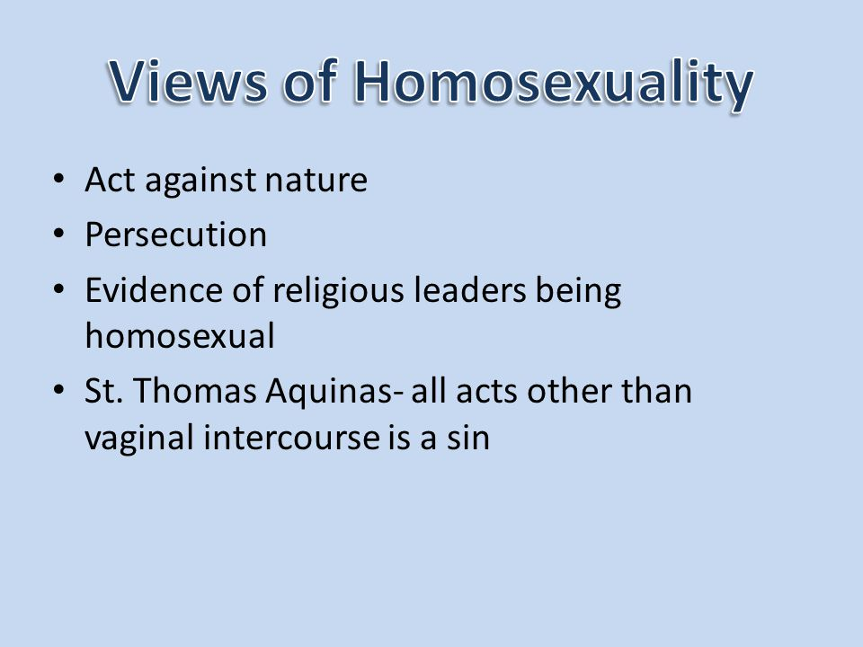 Views of Homosexuality
