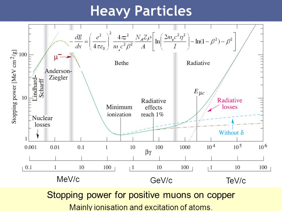 Heavy Particles Stopping power for positive muons on copper MeV/c
