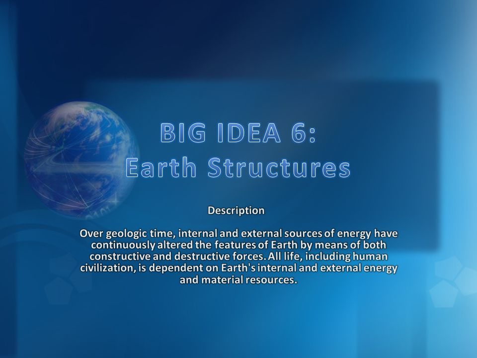 BIG IDEA 6: Earth Structures