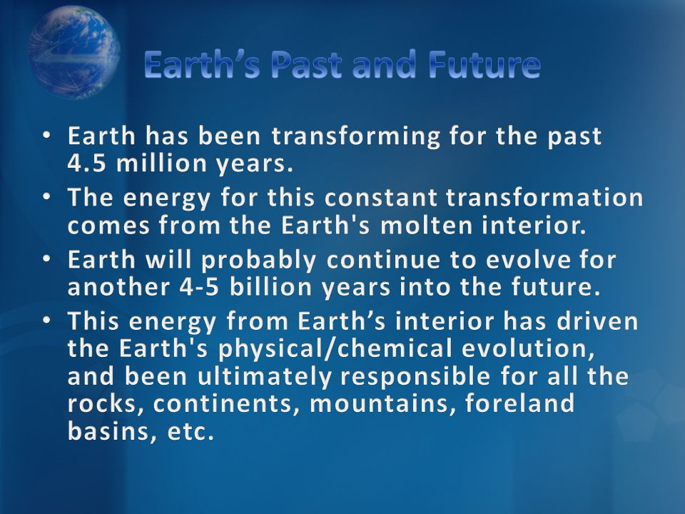 Earth's Past and Future